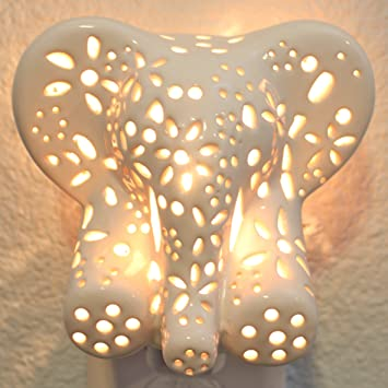 Childu0027s Nursery Lamp/Night Light   Cotton Elephant (available In Multiple  Animals And Colors