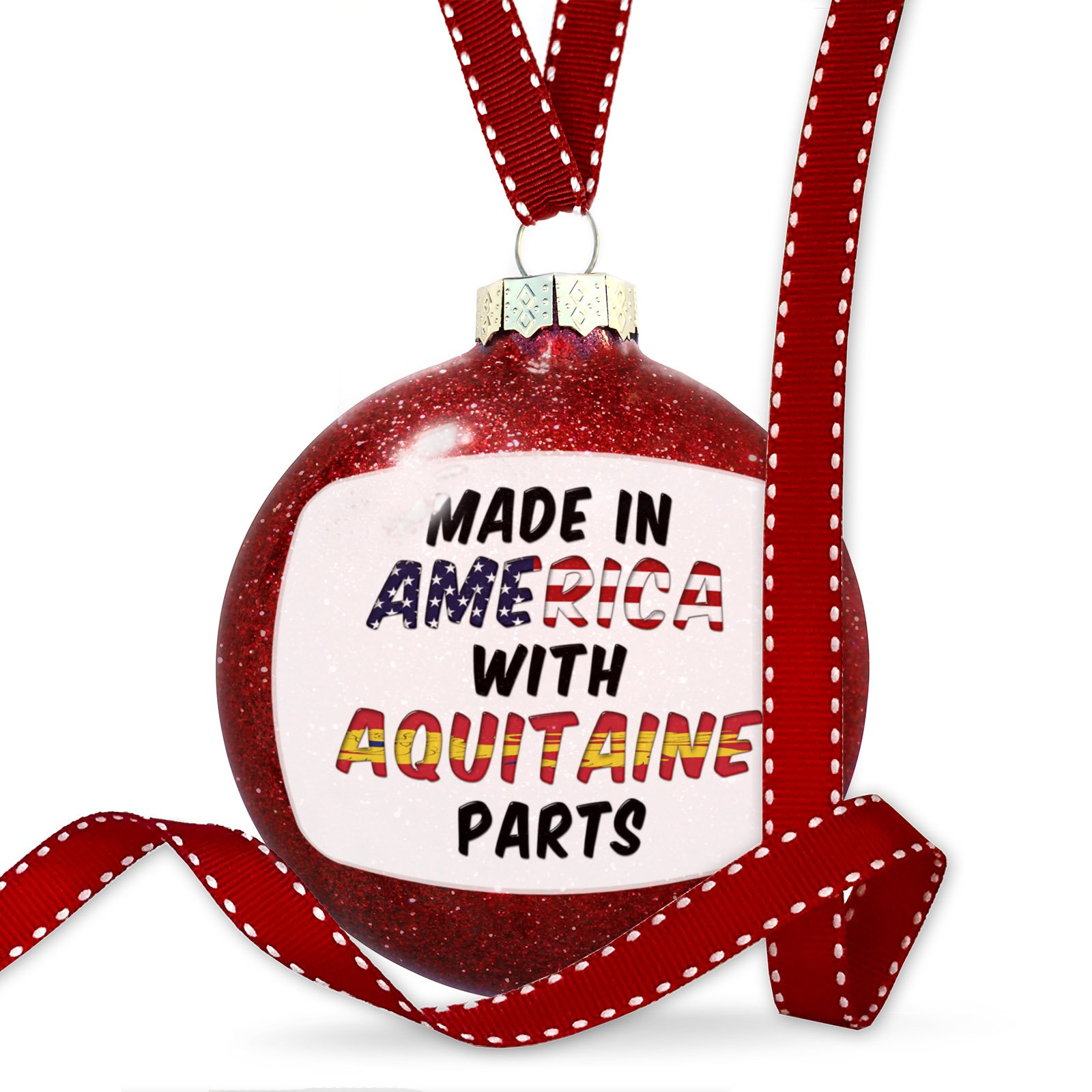 Christmas Decoration Made in America with Parts from Aquitaine Ornament