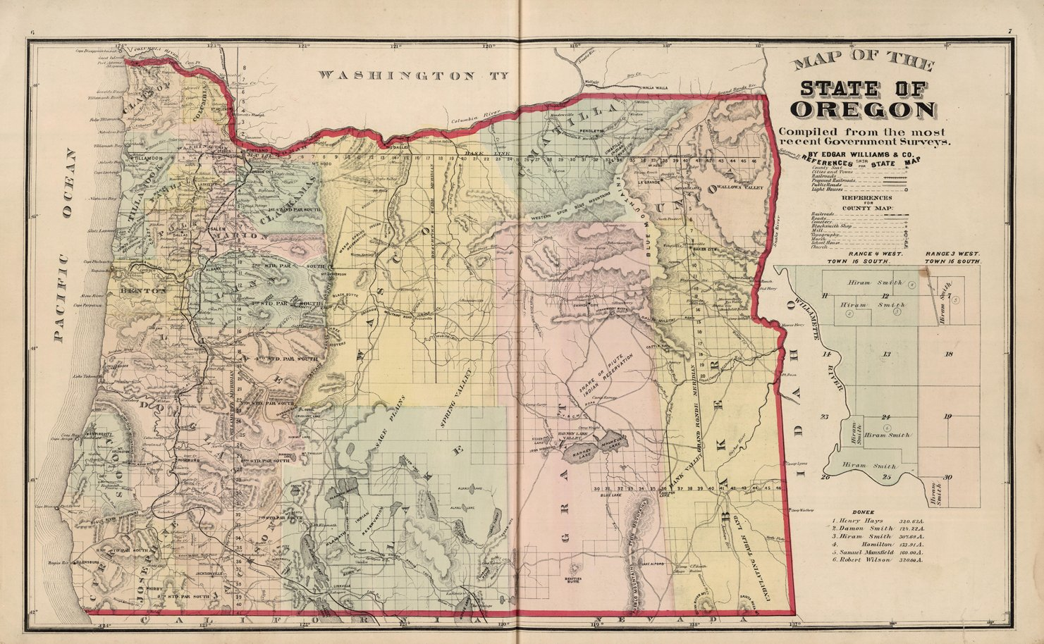Amazon Com Map Poster Map Of The State Of Oregon 24 X15
