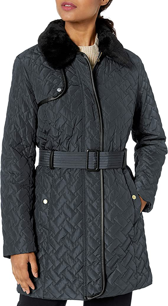 Cole Haan 可汗 中长款女式保暖棉服夹克 0.9折$28.97起 海淘转运到手约¥291