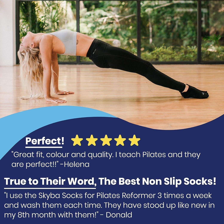 3 Tailles la Barre la M/éthode Pilates Le Ballet et la Maternit/é Skyba Chaussettes Antid/érapantes de l/'adh/érence pour Le Yoga