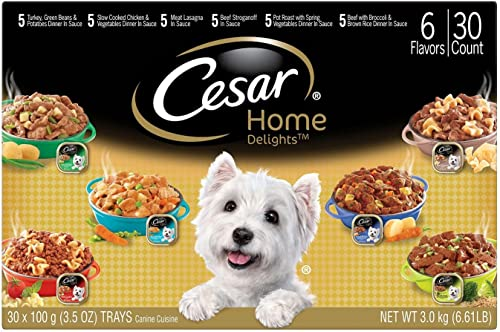Cesar Home Delights Wet Dog Food, Variety Pack 3.5 oz., 30 ct. by Cesar