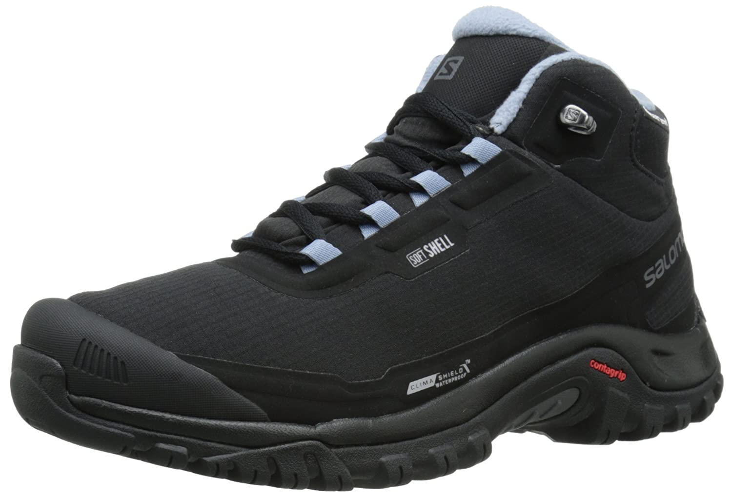 Salomon Women's Shelter CS Waterproof W Winter Performance Shoe B00PRNZR5S 9 B(M) US|Black/Black/Stone Blue