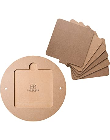 """Bat System for Potters Wheel, 12"""" Round Outer Bat with Set of Six 7"""