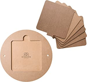 """Bat System for Potter's Wheel, 12"""" Round Outer Bat with Set of Six 7"""" Square Inner Bats, Bat Adapter with Removable Inserts for Throwing Pottery, for Potters and Clay Artists"""