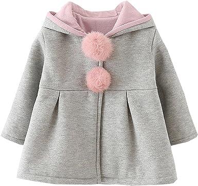 Baby Girls Toddler Kids Fall Winter Coat Jacket Outerwear Ears Hood Hoodie