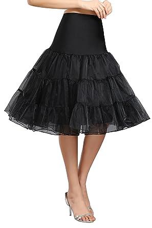 d4eaf875474f4 Kumeng Women s 50s Vintage Rockabilly Petticoat 28   Length Net Underskirt  Petticoat Half Slip (