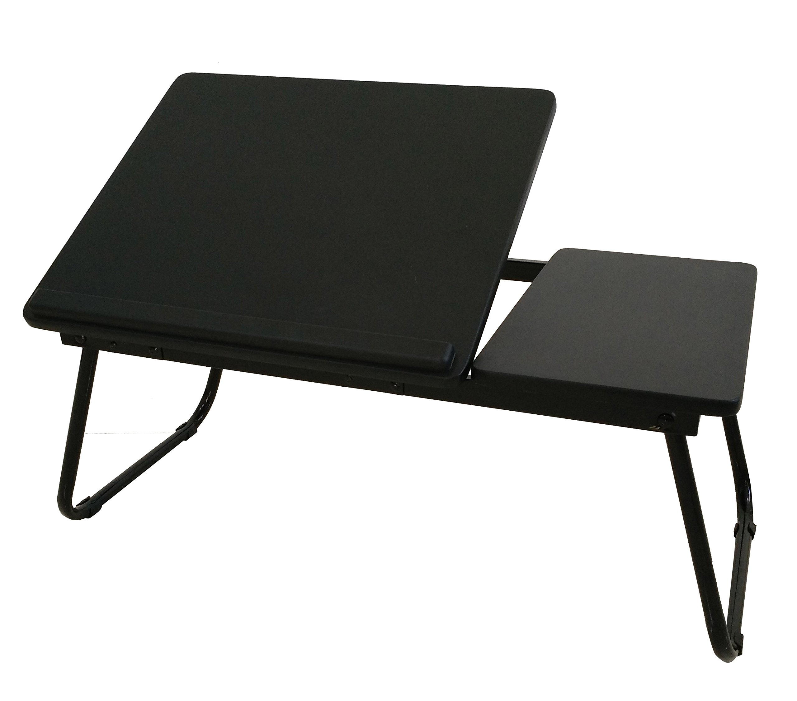 Black Laptop Desk Stand Foldable Large Size Portable Adjustable Tilting Home and Office Lap Desk Bed Tray