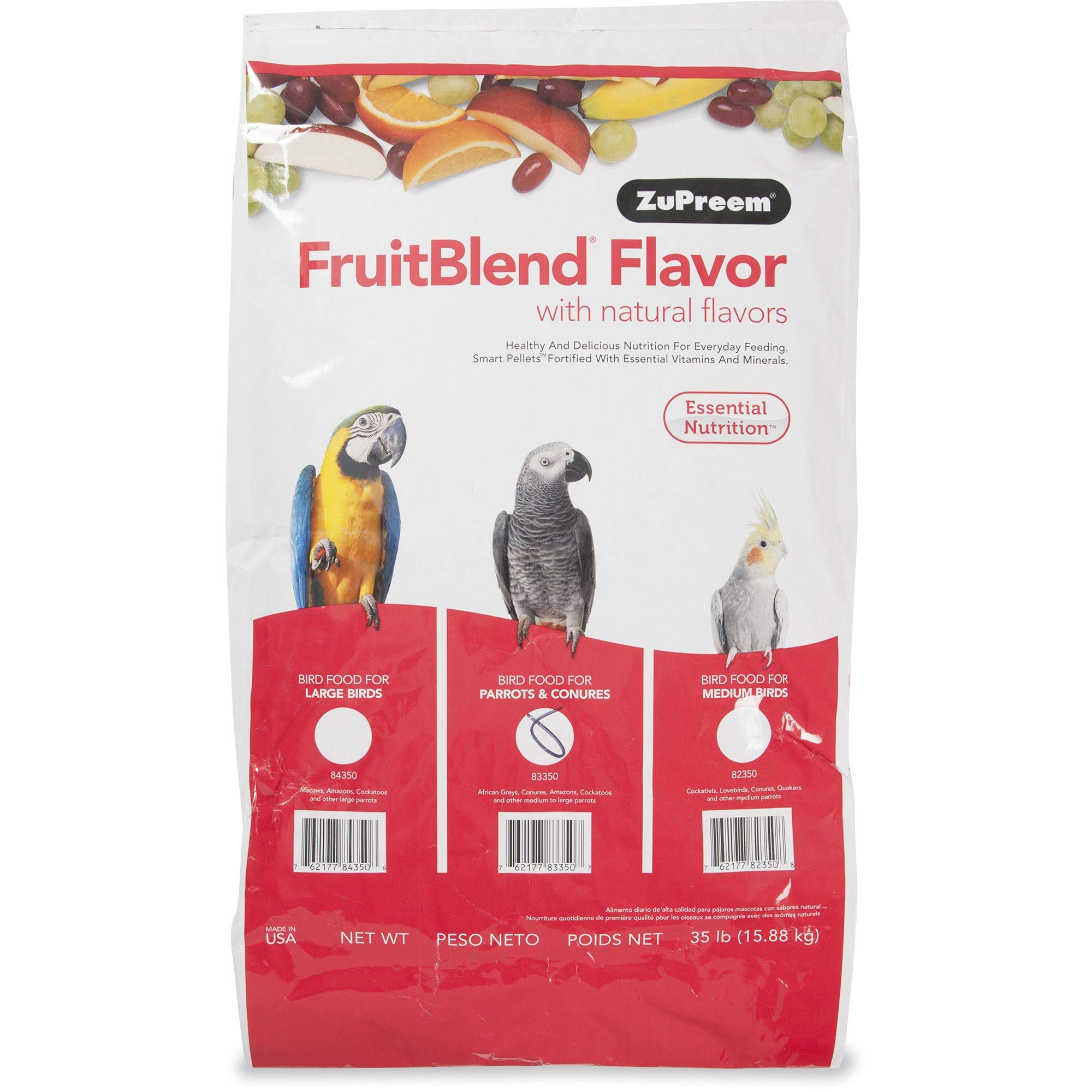 ZuPreem Fruit Blend Medium/Large Bird Food , 35# Bag by ZuPreem