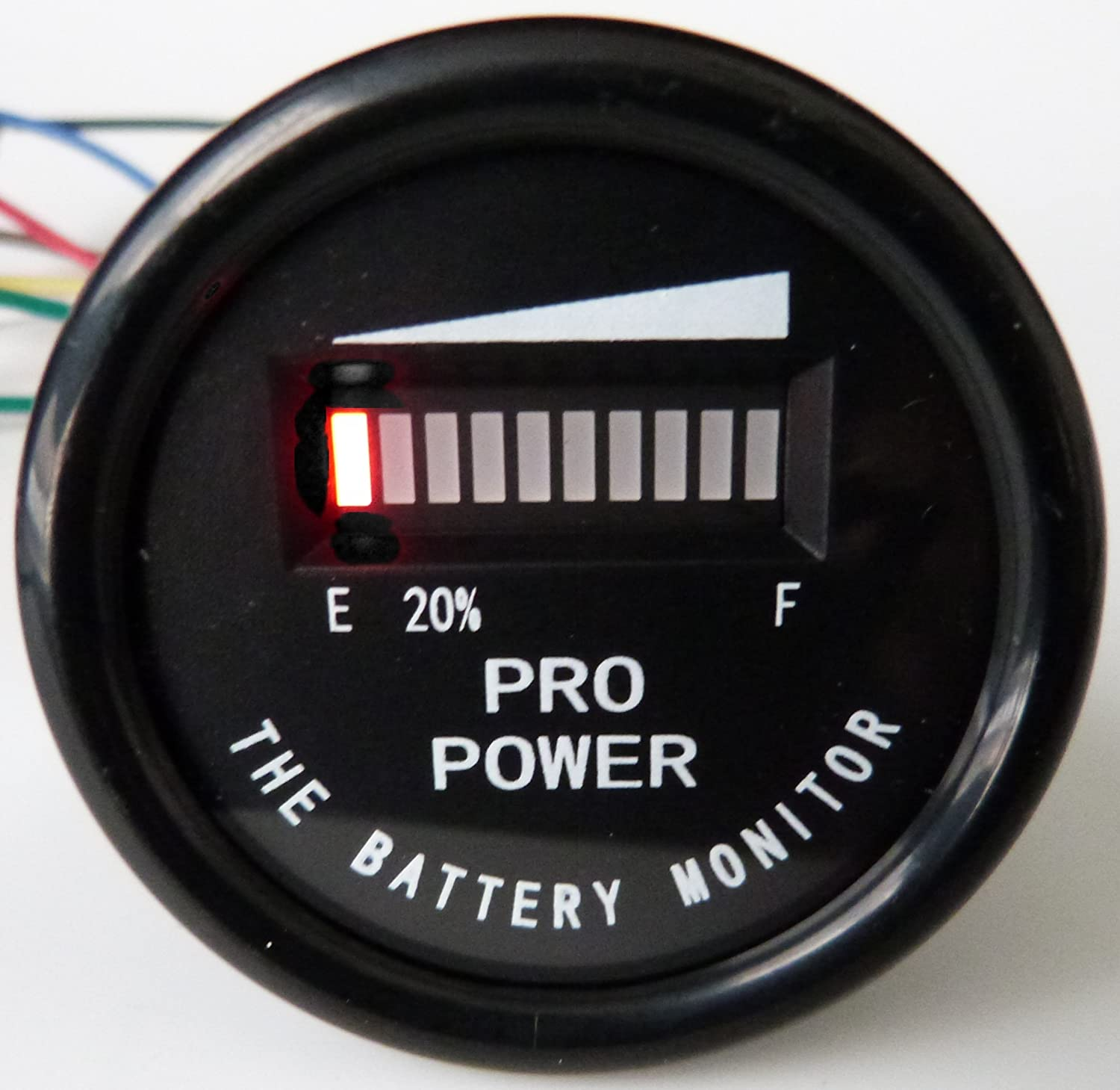 Amazon.com : PRO12-48M ProPower's Golf Cart Battery Indicator Ezgo Yamaha  Club Car 12, 24, 36, 48 VDC - Works on Trojan, Exide and all batteries :  Sports & ...