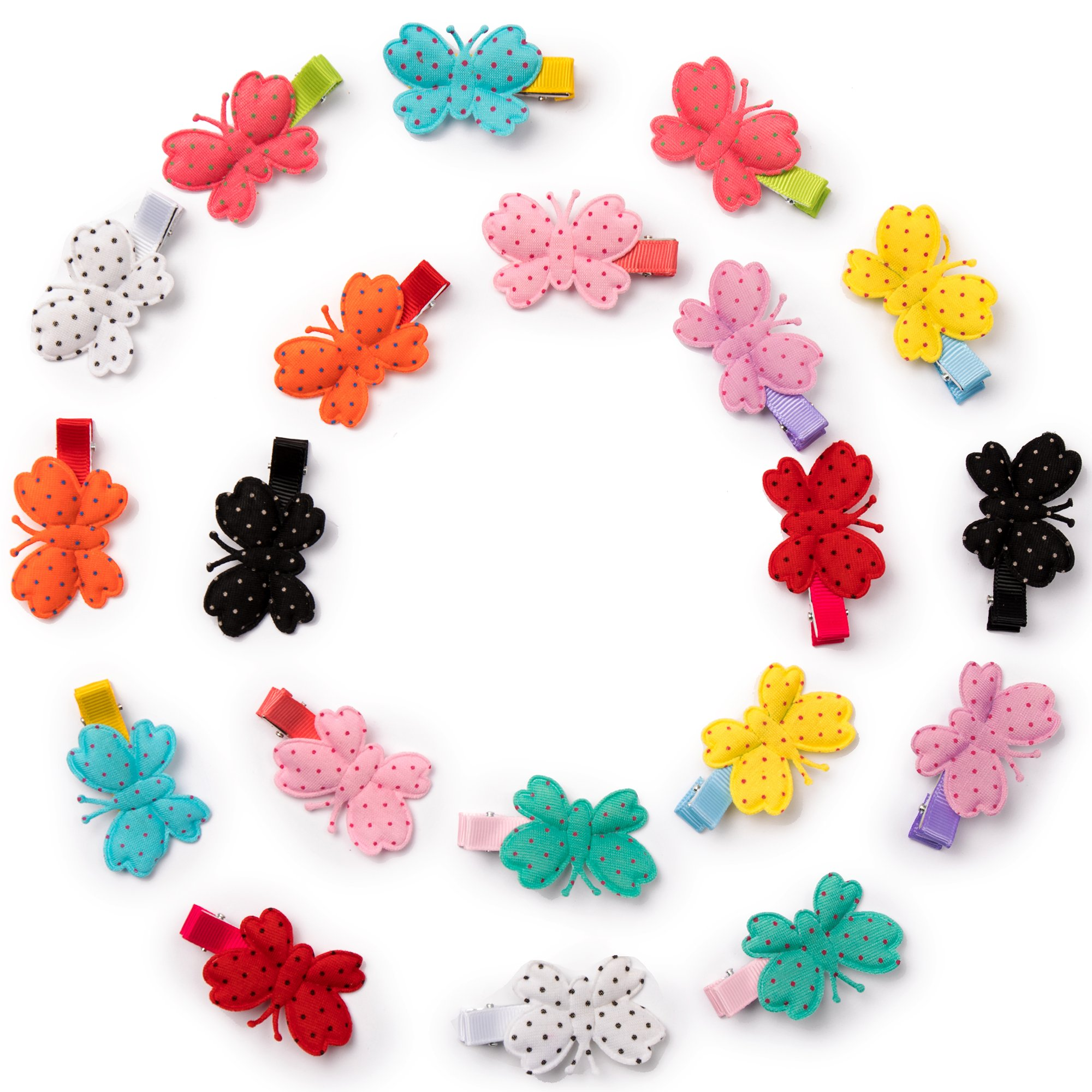20 Pcs 1.8'' Colorful Butterfly Hair Clips For Baby girls,Toddlers, Kids & Teens