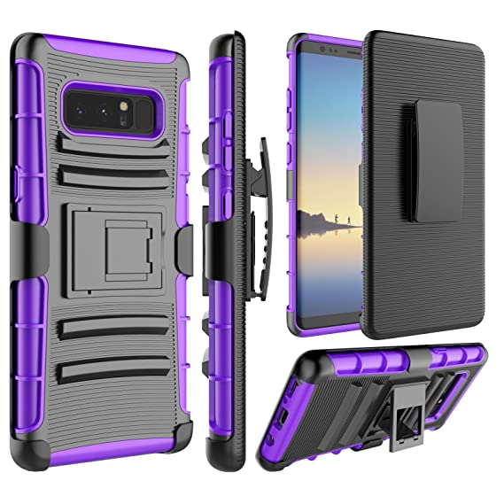 the latest 1b991 34ddc Galaxy Note 8 Case, Samsung Note 8 Holsters Clips Case, Jeylly [Belt Clip]  Built-in Kickstand Heavy Duty Full Body Shock Absorbing Hard Rugged Case ...