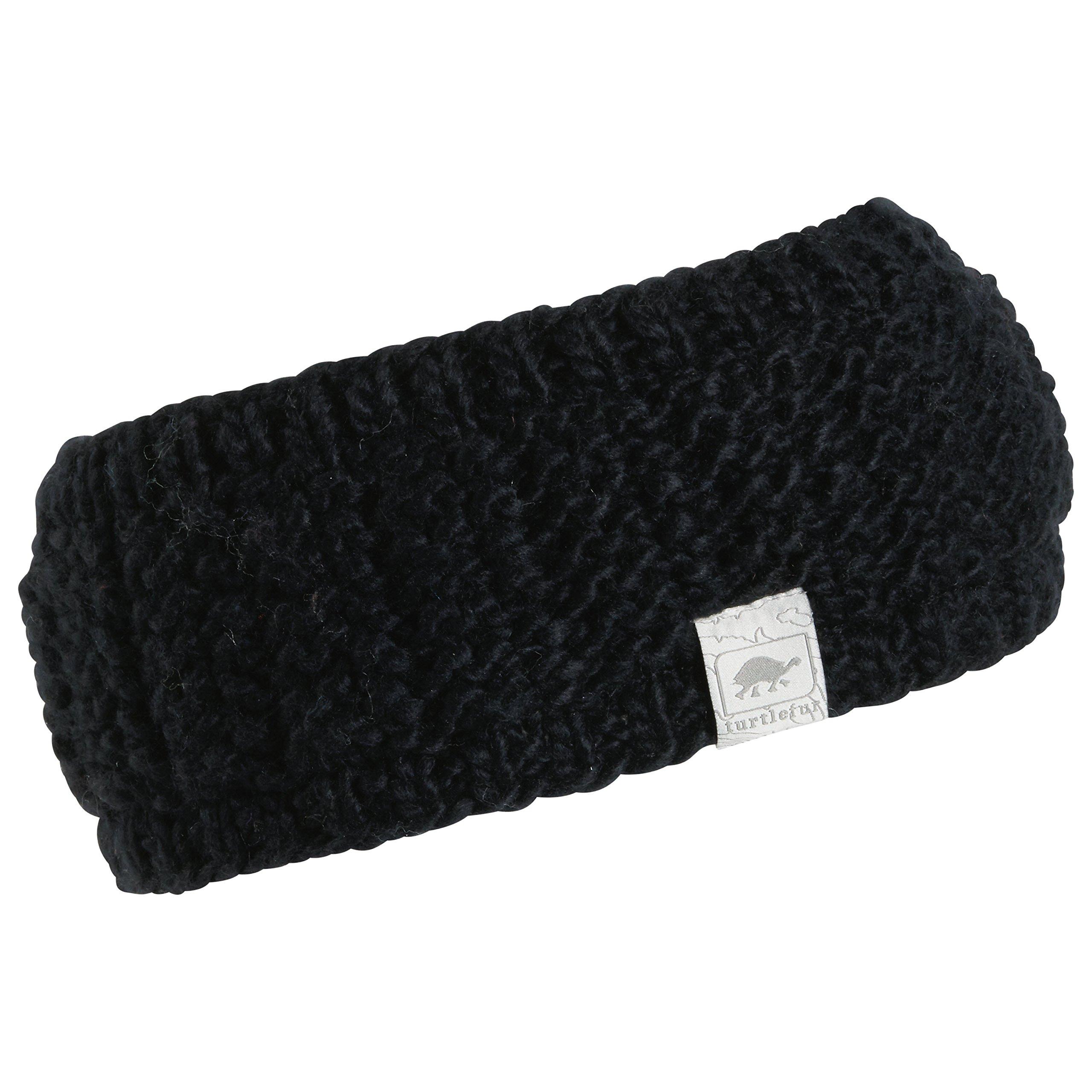 Turtle Fur Shay Women's Fleece Lined Wide Knit Headband Black