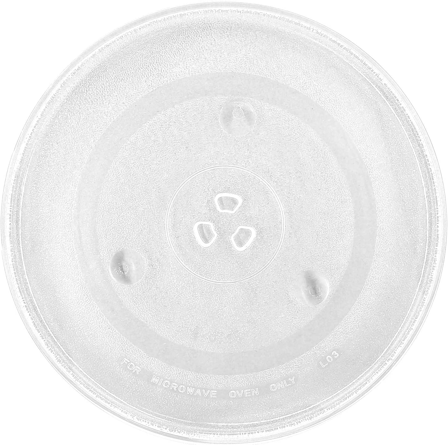 "12.5'' Microwave Glass Plate Turntable Replacement 12 1/2"" With 3 Part Bushing Couplers Centerpieces, Round Rotating Dish Tray for Microwaves"