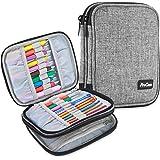 ProCase Crochet Hook Case (up to 6.5 Inches), Travel Organizer Zipper Bag for Various Crochet Hooks, Circular Knitting Needle