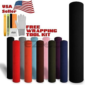V Velvet Suede Texture Fur Vinyl Wrap Sticker Black White Red Blue Pink Grey