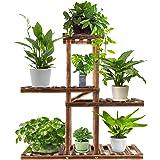 Wood Plant Stand Indoor Outdoor,Plant Shelf Multi Tier Garden Shelf,Plant Shelves Holder Stand Display Higher Lower Wooden Fl