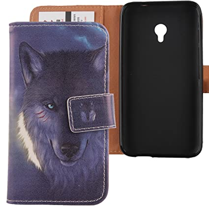 Lankashi Pattern Design PU Flip Leather Cover Skin Protective Case for Vodafone Smart Turbo 7 VFD500