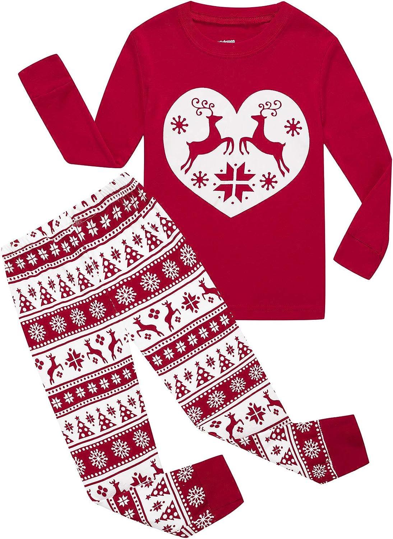 Girls Merry Xmas Traditional Cute Reindeer Velour Bottoms Pyjamas 4-16 Years