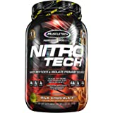 MuscleTech NitroTech Protein Powder, 100% Whey Protein with Whey Isolate, Milk Chocolate, 2 Pound