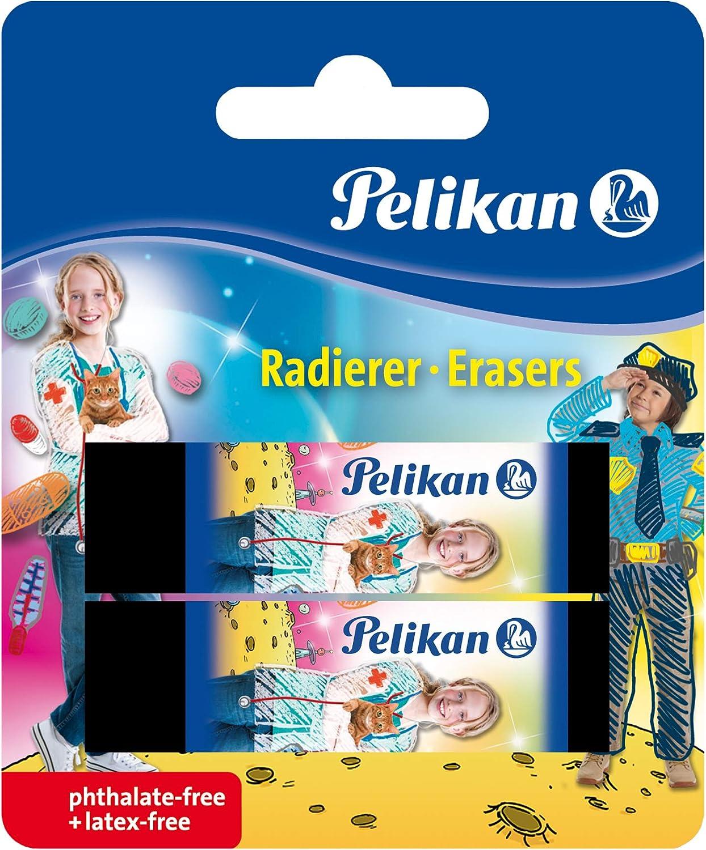 4 Verschiedene Farben und Formen Keine Auswahl m/öglich! 1 St/ück Pelikan 622613 Design-Softradierer