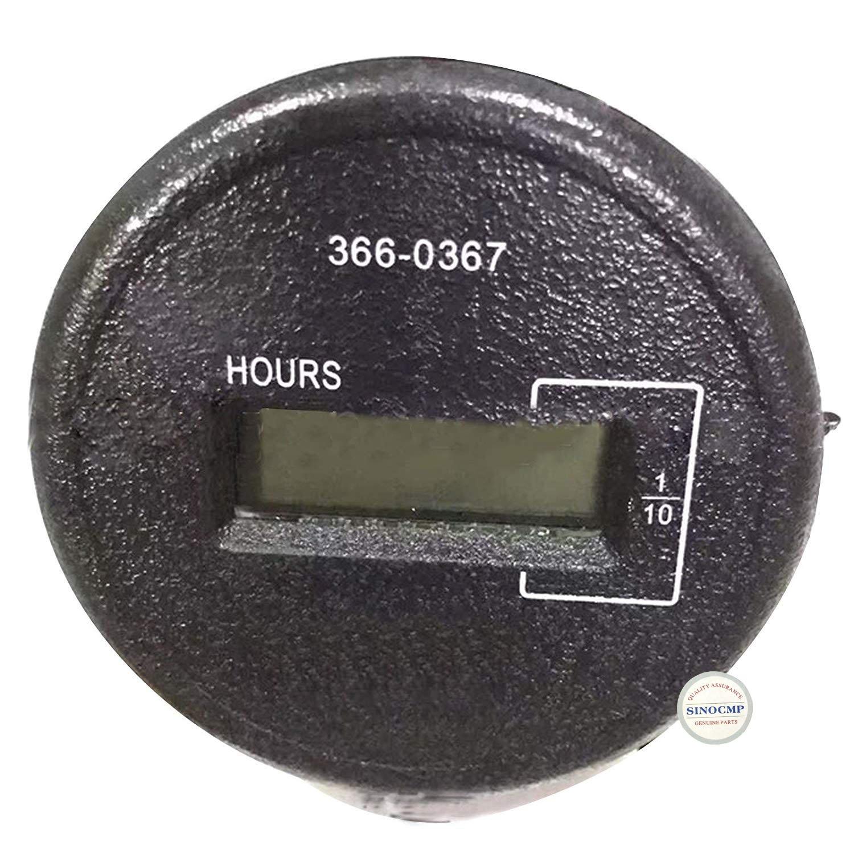 SINOCMP 366-0367 197-8832 Timer Meter 3660367 1978832 Timer Meter for 320D E320D Excavator Timer Control Panel Gauge Hour Meter Parts, 3 Month Warranty