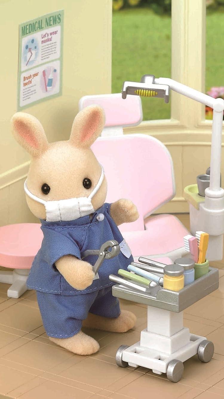 シルバニアファミリー 歯医者さん iPhone8/7/6s/6(750×1334)壁紙画像