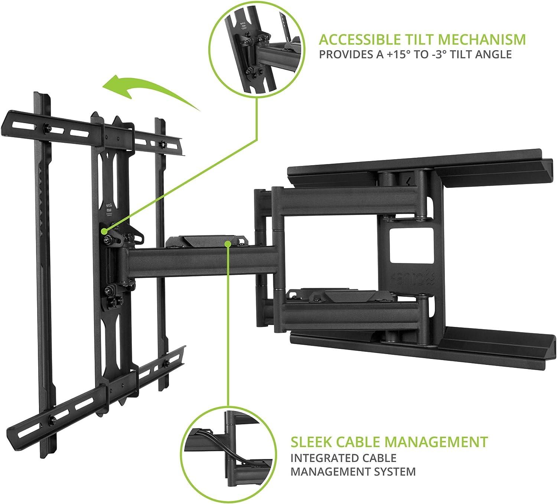 Kanto Full Motion Flat Panel TV Mount, Black (PX600)