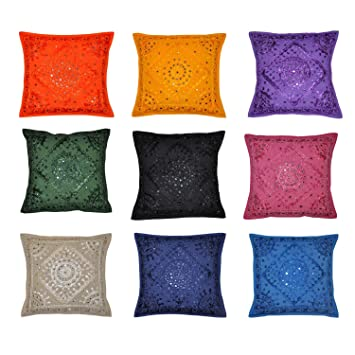 Amazon Indian Decor Handmade Cotton Cushion Cover Pillow
