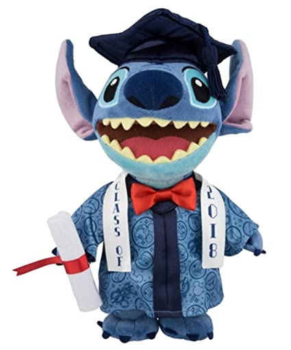 Disney Parks Stitch 2018 Graduation 9 inch Plush Doll