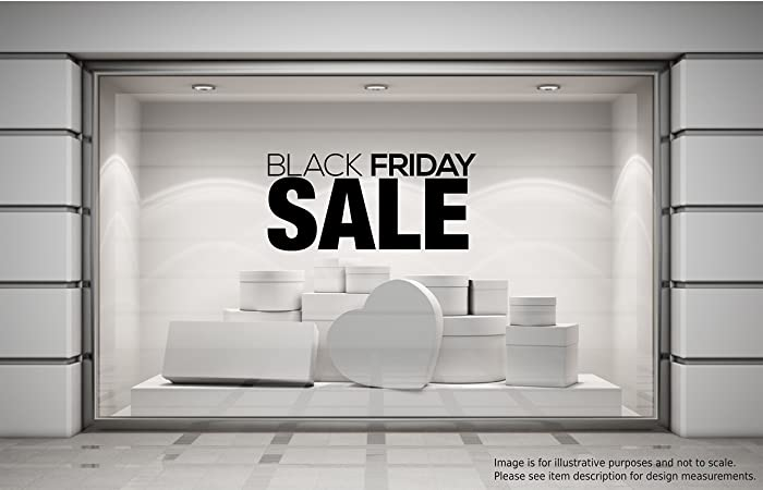 Black friday sale shop window sticker retail display store vinyl decal graphic