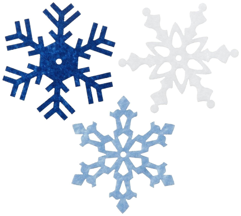 amazon com large felt snowflake 24 pkg winter