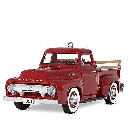 Christmas In Evergreen Truck.Hallmark Keepsake Christmas Ornament 2018 Year Dated All American Trucks 1954 Mercury M 100 Metal