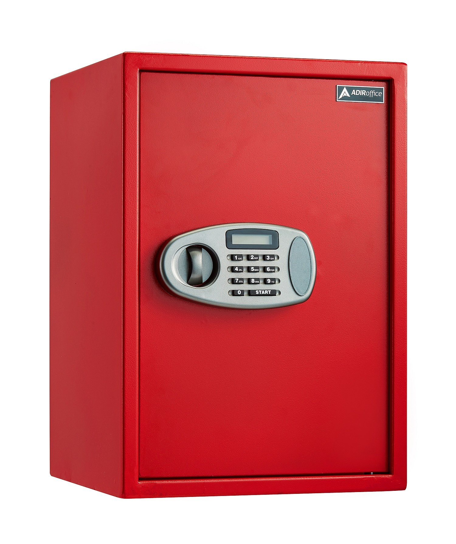 AdirOffice Security Safe with Digital Lock - Red - 2.32 Cubic Feet