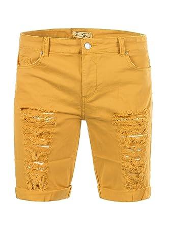 Gvexx M429 Bruno Leoni Herren Bermuda Jeans Kurze Hose Cargo Shorts Clubwear Bermudas