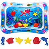 Niskite Baby Toys 0-3 6 Months, Inflatable Tummy Time Water Play Mat for Infant Newborn,Top Babies Boy Girl Gifts for 4…