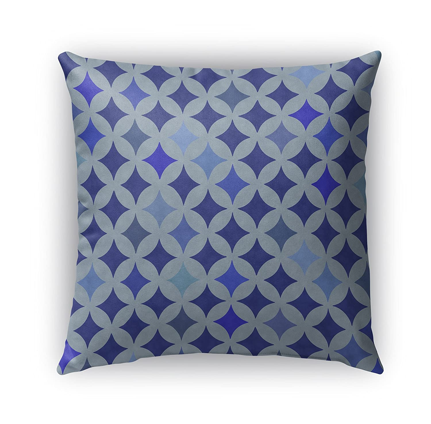 KAVKA Designs Large Diamond Blue Indoor-Outdoor Pillow, (Blue) - MOD Collection, Size: 18X18X6 - (BGAAVC505OD18)