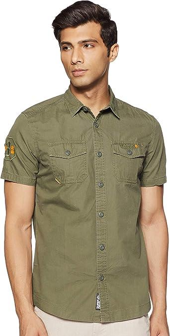 Superdry Camisa Rookie Parachute Verde De Hombre: Amazon.es: Ropa y accesorios