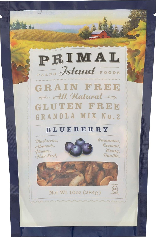 Primal Island, Granola Blueberry, 10 Ounce