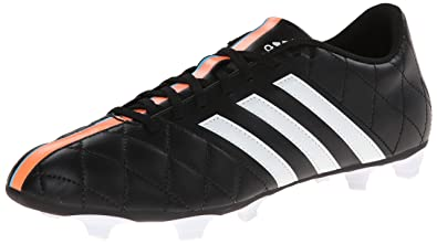adidas Performance Men's 11Questra Firm-Ground Soccer Cleat, Core Black/Running  White/
