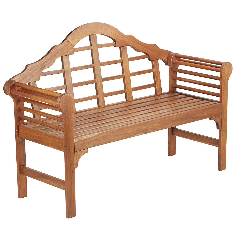 Thompson /& Morgan Lutyens Bench Solid Acacia Hardwood Pre Treated Garden Patio Furniture Bench