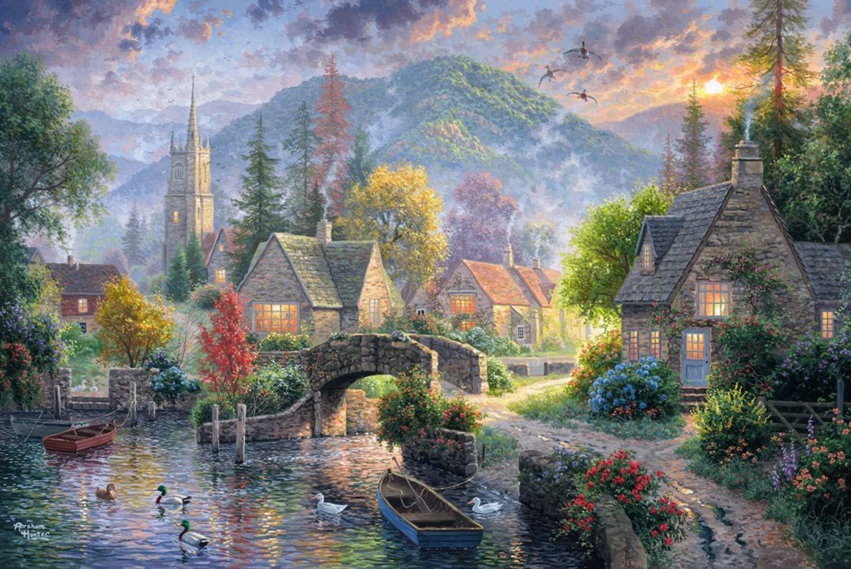 Mountain Village by Abraham Hunter 1000 Piece Puzzle