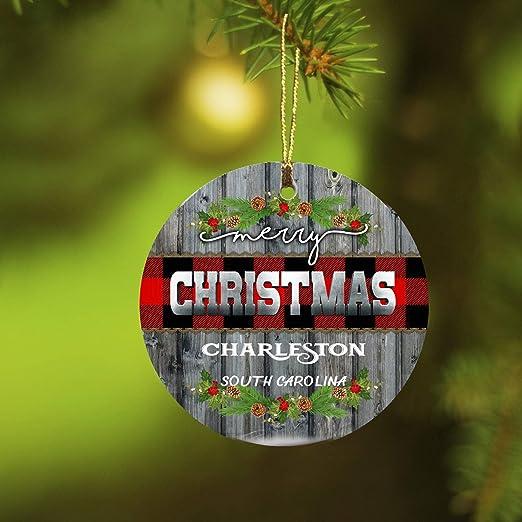 Christmas In Charleston Sc 2020 Amazon.com: Christmas Ornaments 2020 Merry Christmas Charleston