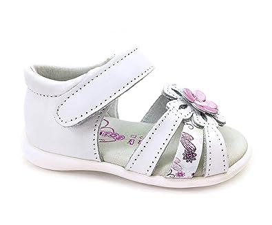 GUANTITOS FER-10_158, Mädchen Sandalen Mehrfarbig Weiß, Mehrfarbig - Weiß - Größe: 19 EU