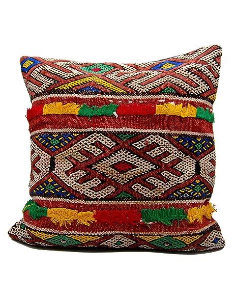 Cojín Kilim étnico marroquí decoración 40 x 40 Hecho a Mano ...