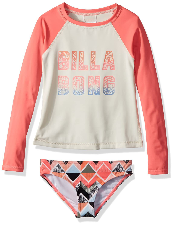 Billabong Girls Zigginz Long Sleeve Rashguard Swimsuit Set Y205NBZI
