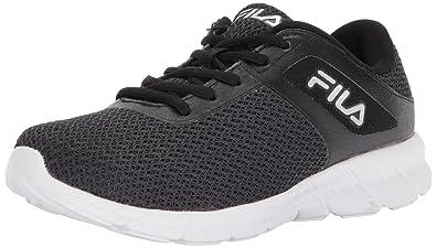 Fila Women's Memory Skip Running Shoe, Black/Metallic Silver/White, 11  Medium