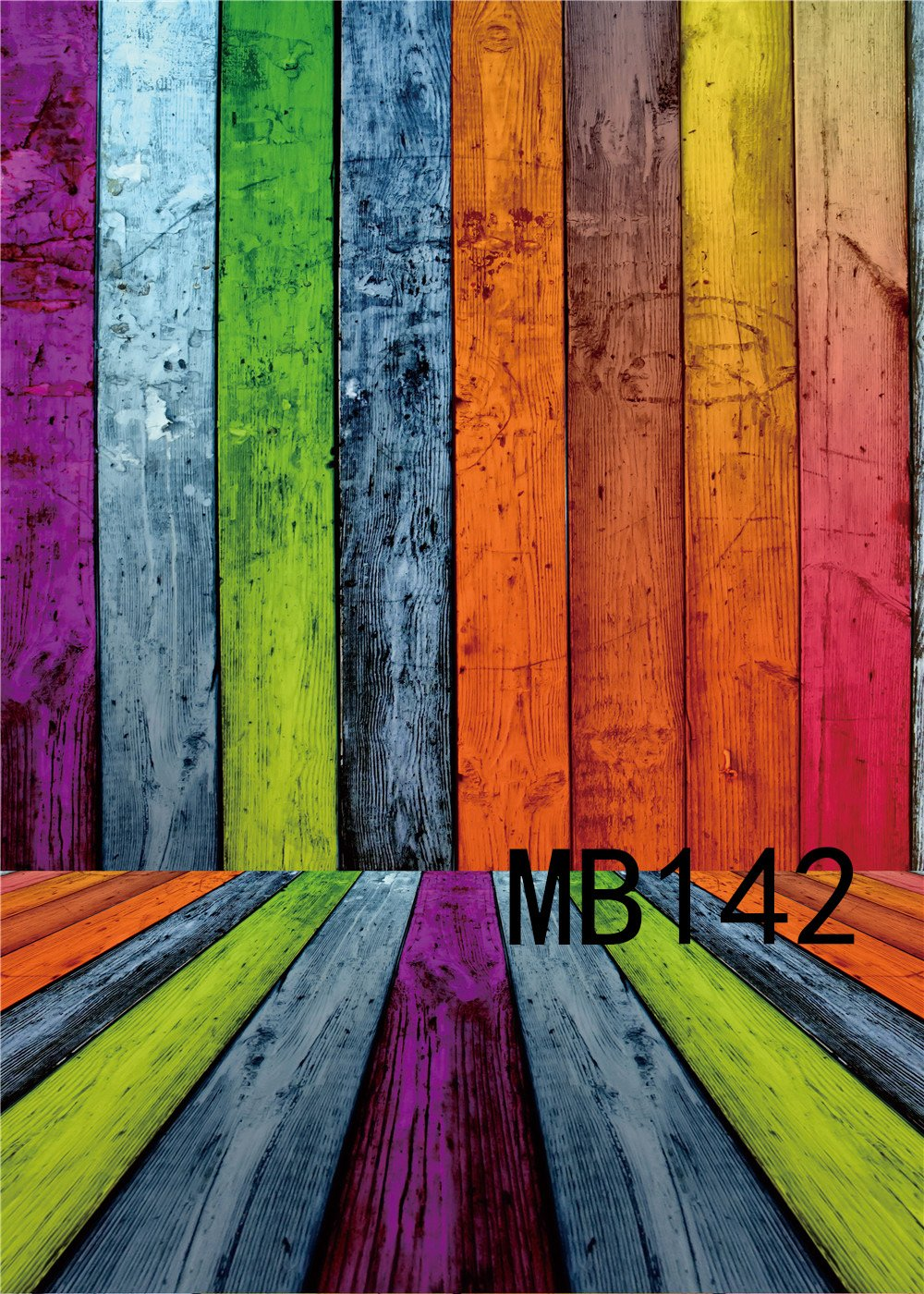 LB 150 x 300cm Vinilo De Fondo | Tablero de madera Rainbow, pared y piso |Foto de estudio de Fotografía Profesional de Fondo para la Decoración de la Etapa ...