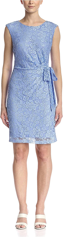 Chetta B Womens Lace Dress with Tie