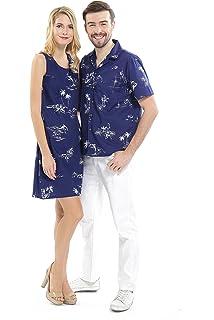 f0d48558c92 Couple Matching Hawaiian Luau Cruise Outfit Shirt Dress Classic Map ...